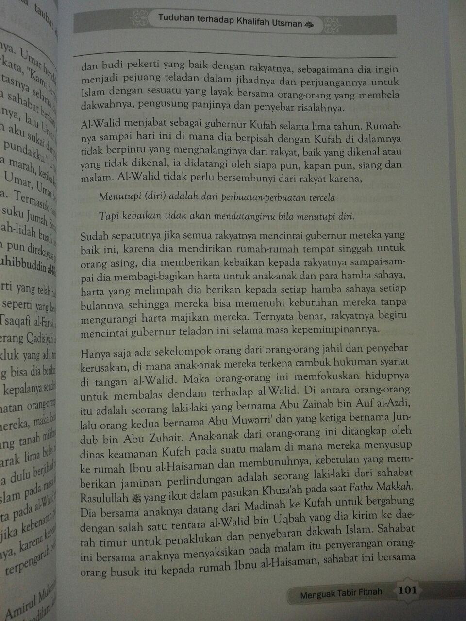 Buku Meluruskan Sejarah Menguak Tabir Fitnah isi