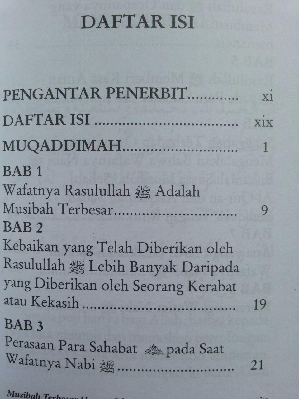 Buku Musibah Terbesar Umat Islam isi