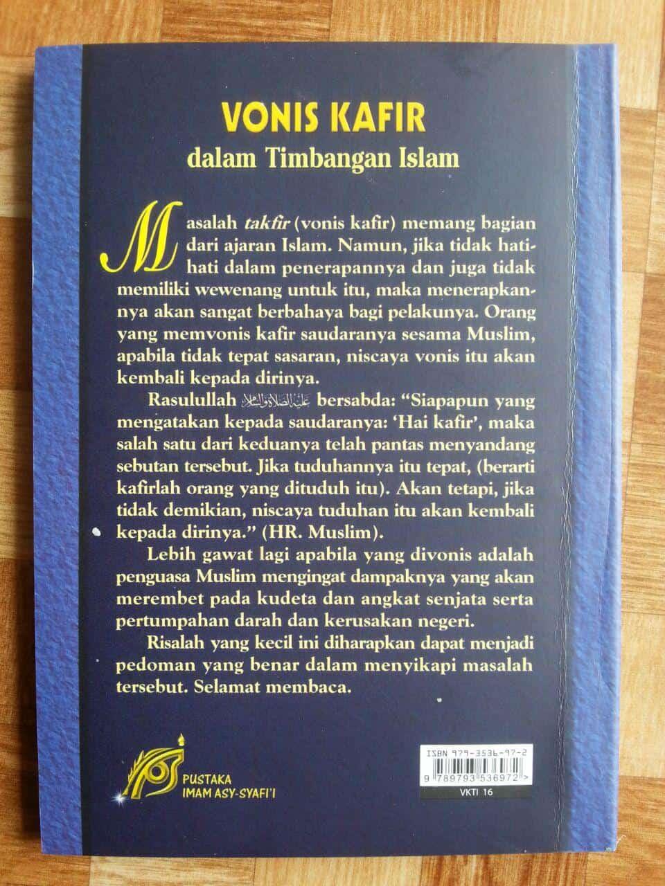 Buku Vonis Kafir Dalam Timbangan Islam cover