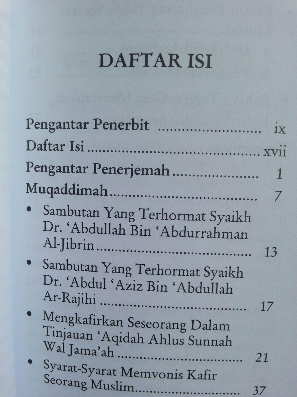 Buku Vonis Kafir Dalam Timbangan Islam isi 2