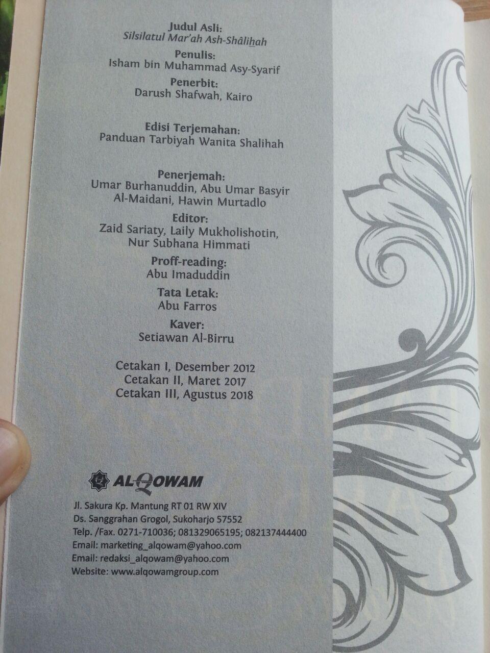 Buku Panduan Tarbiyah Wanita Shalihah isi 3