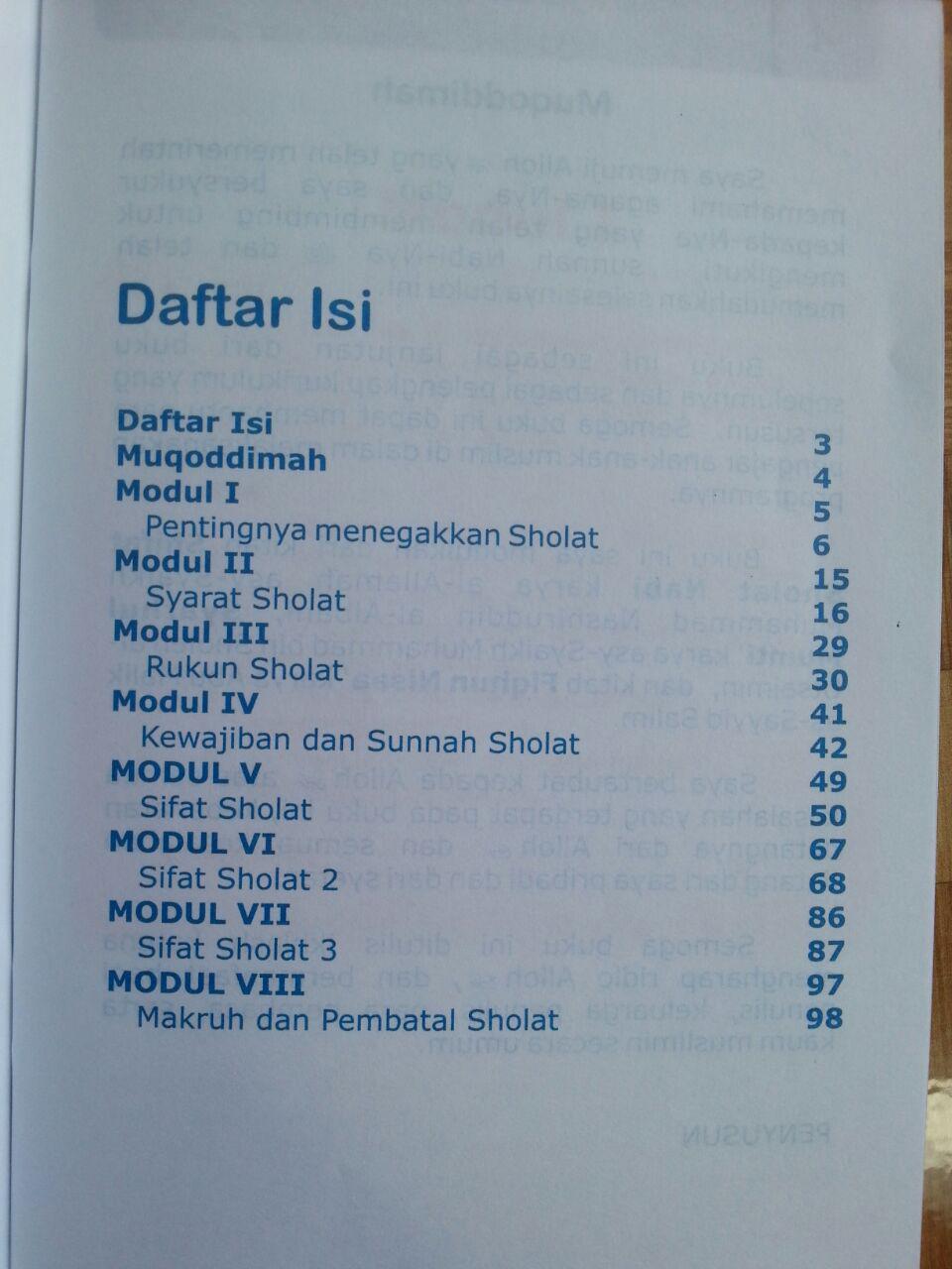 Buku Pegangan Pengajaran Anak Islam Modul Fiqih 3 isi 2