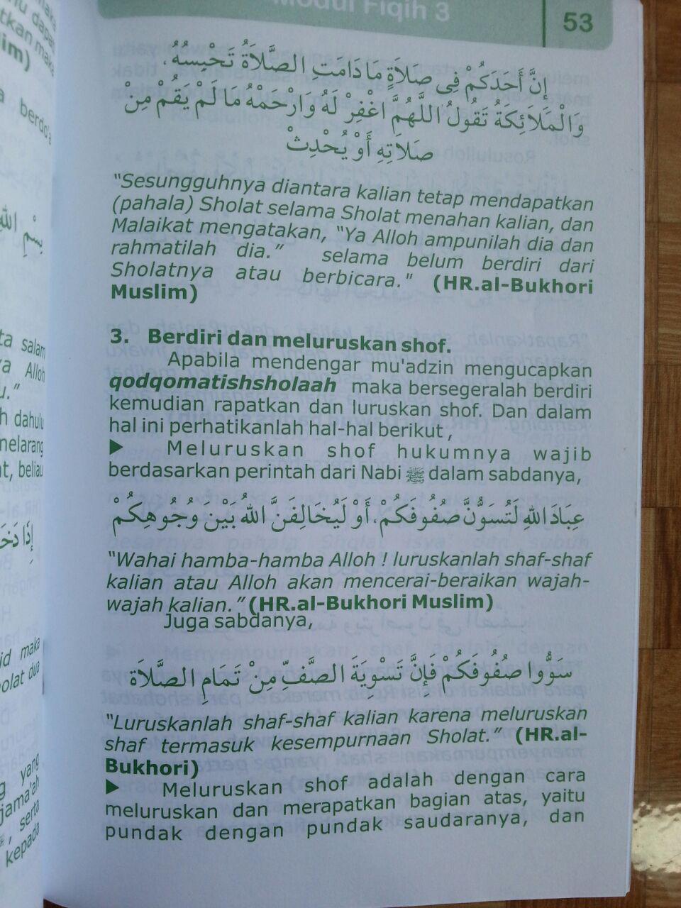 Buku Pegangan Pengajaran Anak Islam Modul Fiqih 3 isi 3