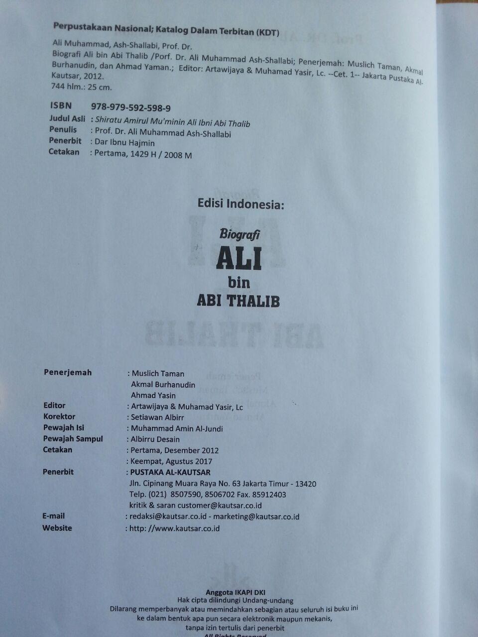 Buku Biografi Ali bin Abi Thalib isi 2