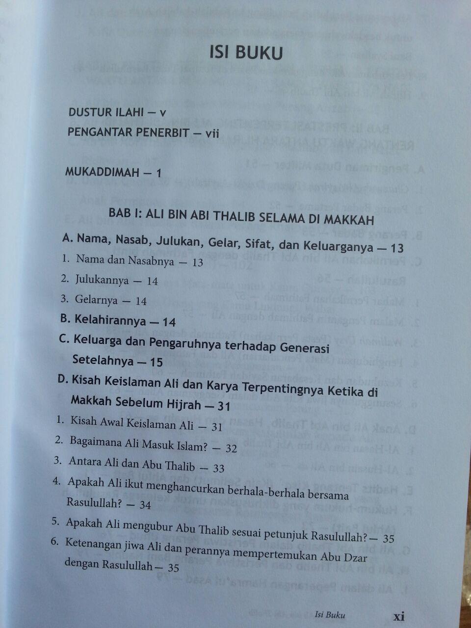 Buku Biografi Ali bin Abi Thalib isi