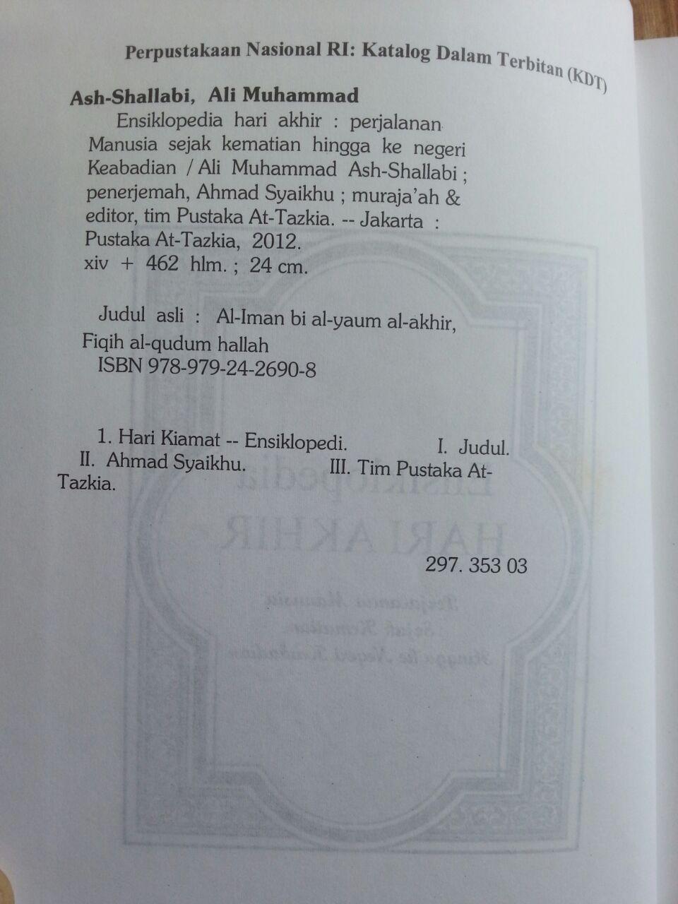 Buku Ensiklopedia Hari Akhir isi 3