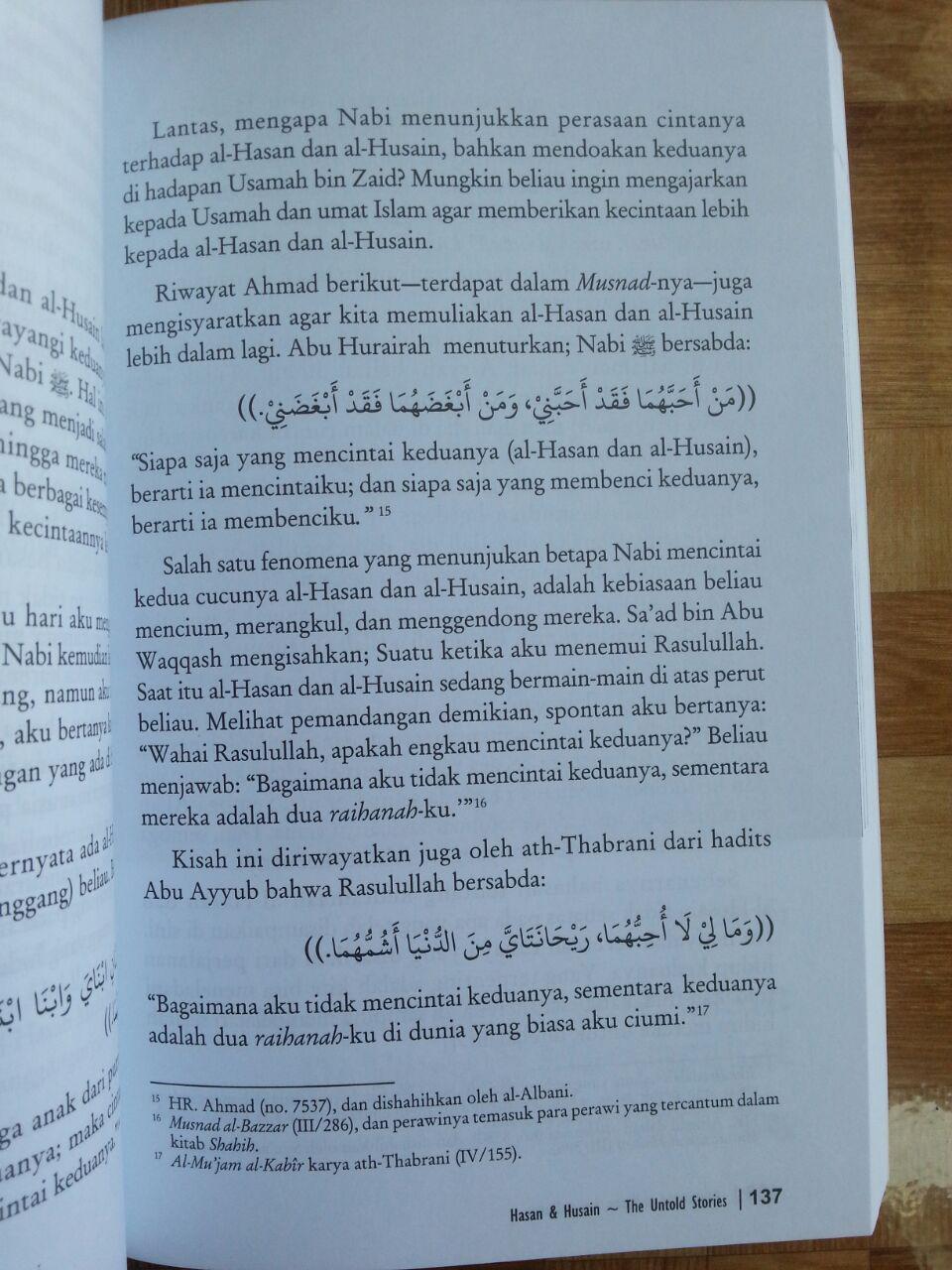 Buku Hasan Dan Husain The Untold Stories isi 4
