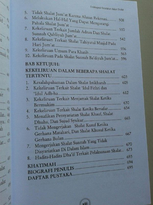 Buku Ensiklopedi Kesalahan Dalam Shalat Dilengkapi Foto Peraga isi
