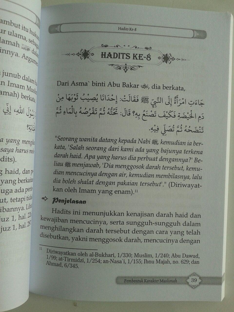 Buku 40 Hadits Pilihan Pembentuk Karakter Muslimah isi
