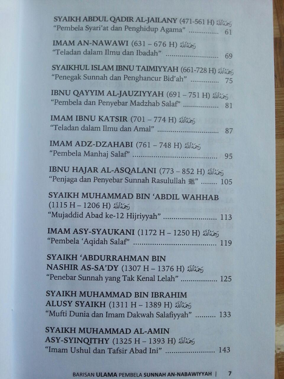 Buku Barisan Ulama Pembela Sunnah An-Nabawiyyah isi 2