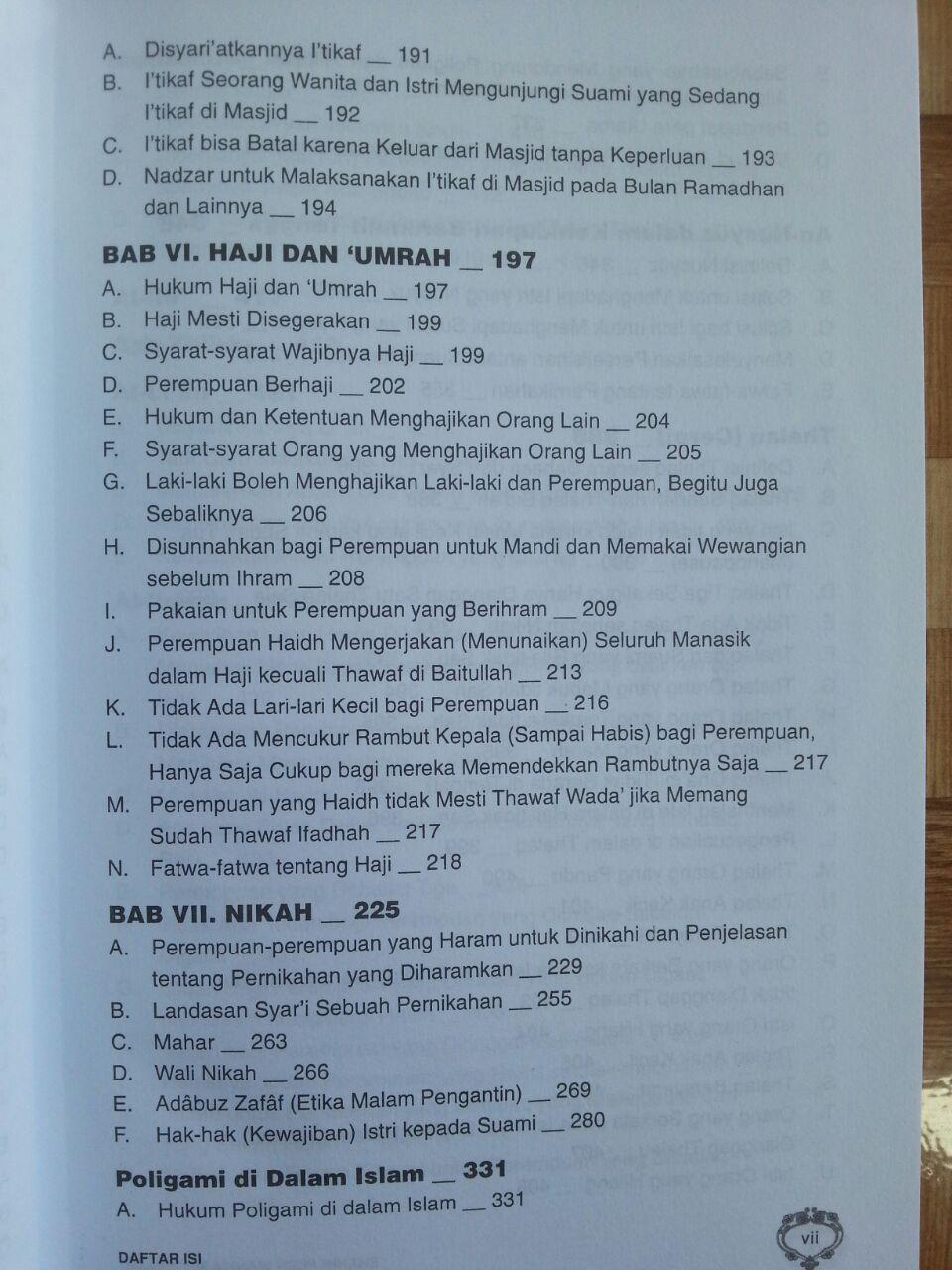 Buku Shahih Fiqih Wanita Syaikh Abu Ubaidah Usamah isi 2