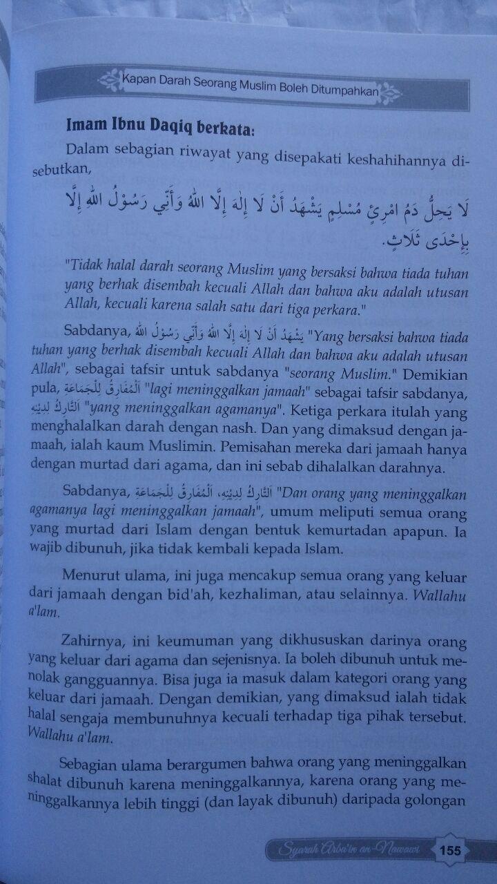 Buku Syarah Arbain An-Nawawi isi