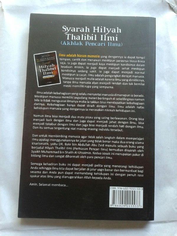 Buku Syarah Hilyah Thalibil Ilmi Akhlak Penuntut Ilmu cover 2