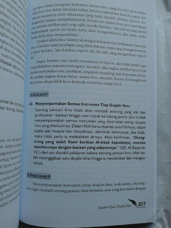 Buku Syarah Hilyah Thalibil Ilmi Akhlak Penuntut Ilmu isi