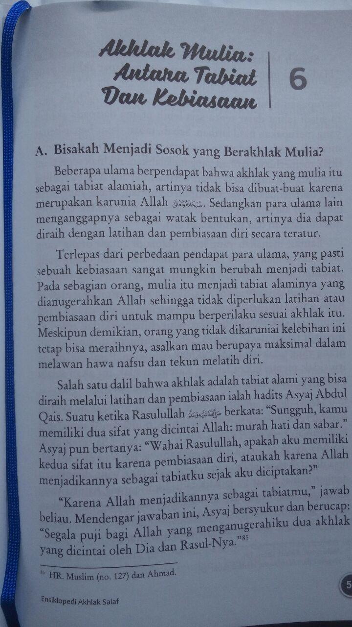 Buku Ensiklopedi Akhlak Salaf Plus 13 Cara Mencapai Akhlak Mulia isi 4