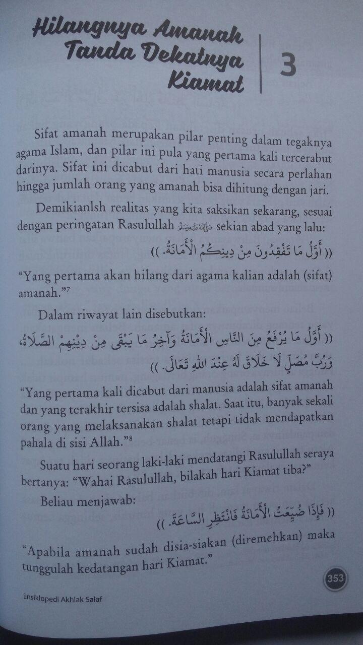 Buku Ensiklopedi Akhlak Salaf Plus 13 Cara Mencapai Akhlak Mulia isi