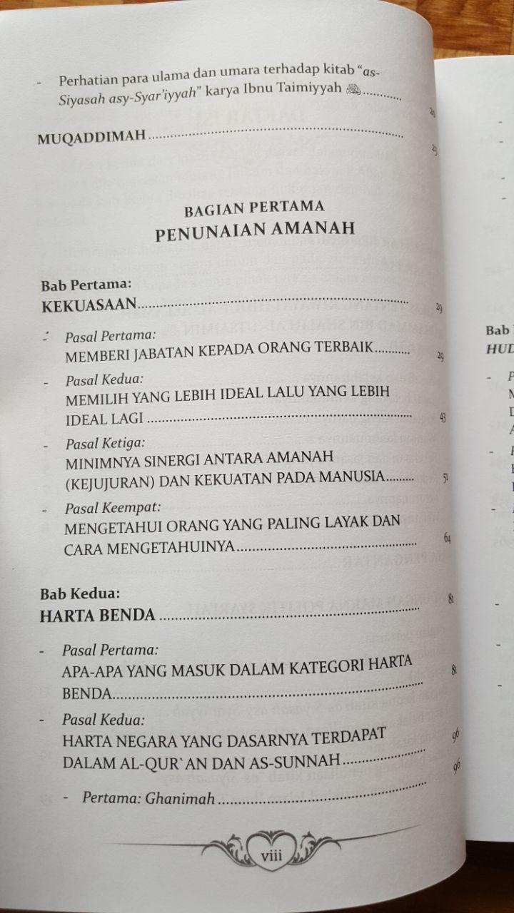 Buku Politik Islam Ta'liq Siyasah Syar'iyyah Ibnu Taimiyyah isi 2