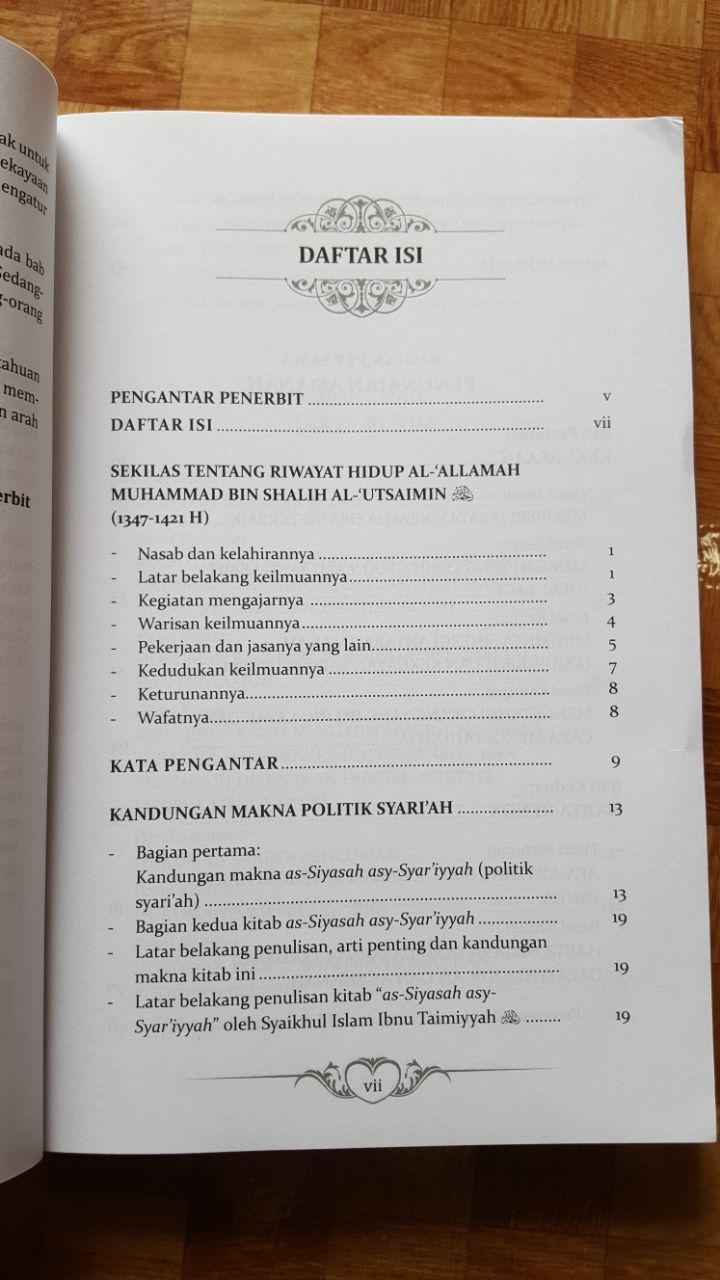 Buku Politik Islam Ta'liq Siyasah Syar'iyyah Ibnu Taimiyyah isi