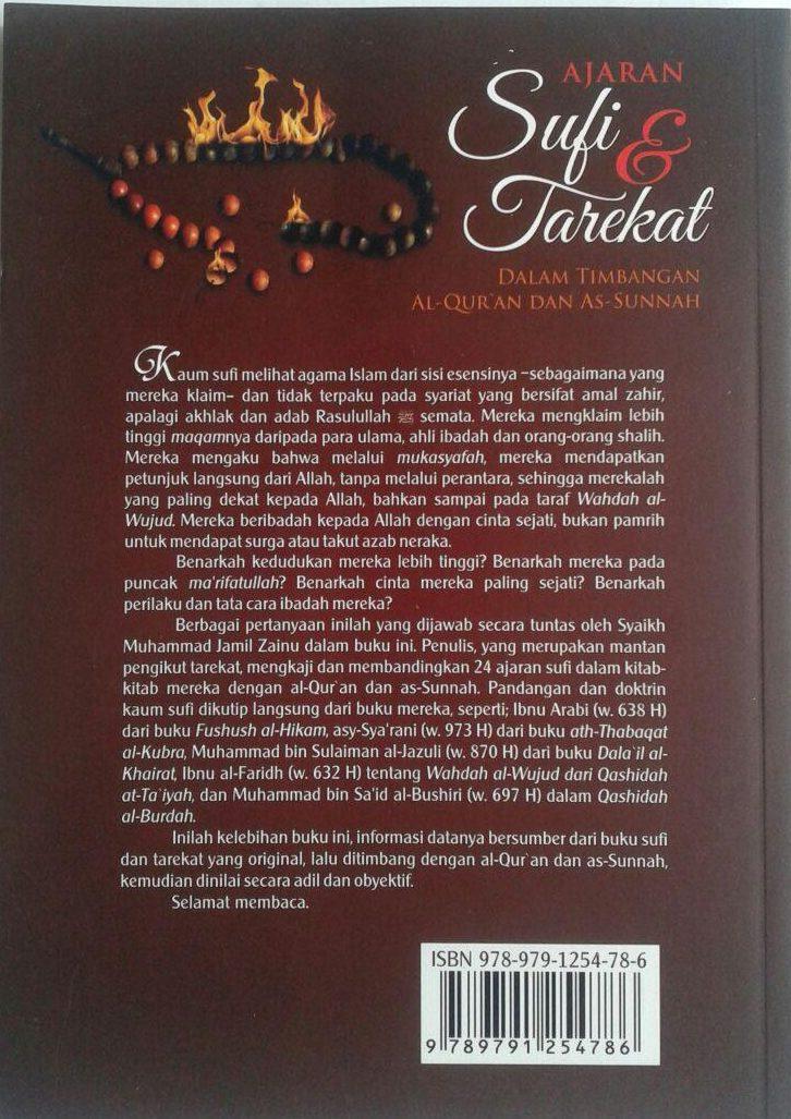 Buku Ajaran Sufi Dan Tarekat Dalam Timbangan Al-Quran Dan As-Sunnah cover