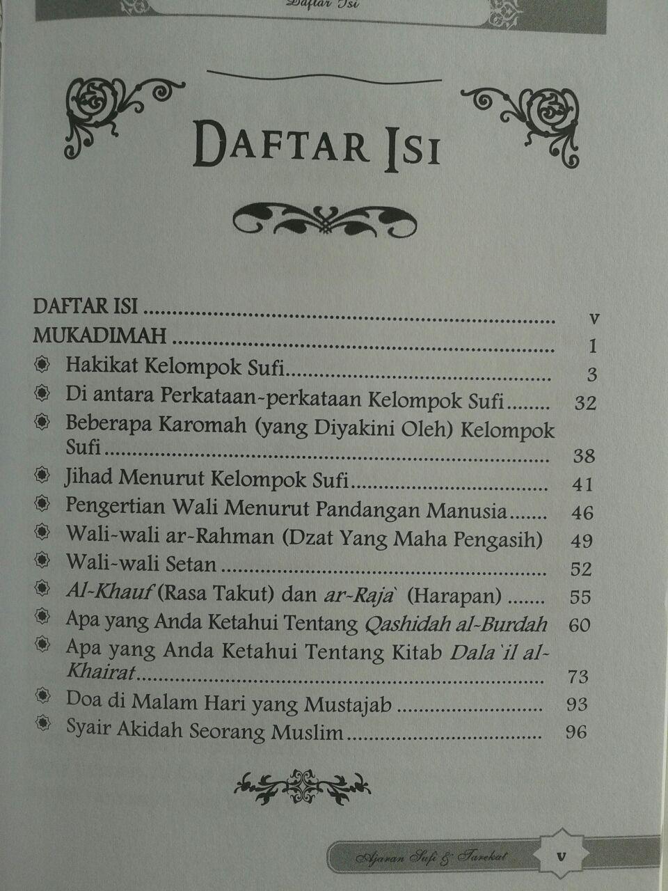 Buku Ajaran Sufi Dan Tarekat Dalam Timbangan Al-Quran Dan As-Sunnah isi 2