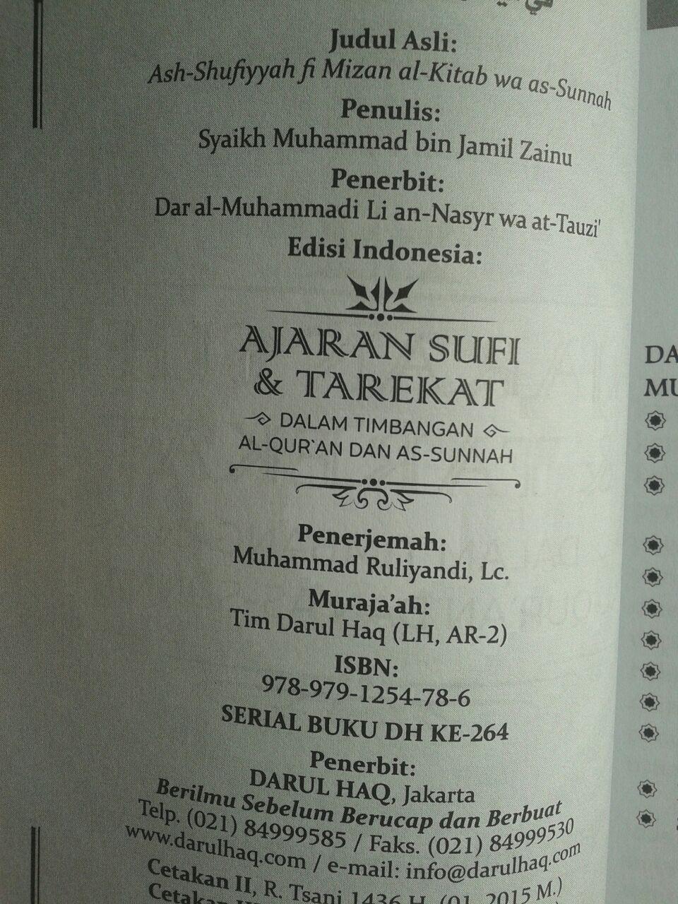 Buku Ajaran Sufi Dan Tarekat Dalam Timbangan Al-Quran Dan As-Sunnah isi 3