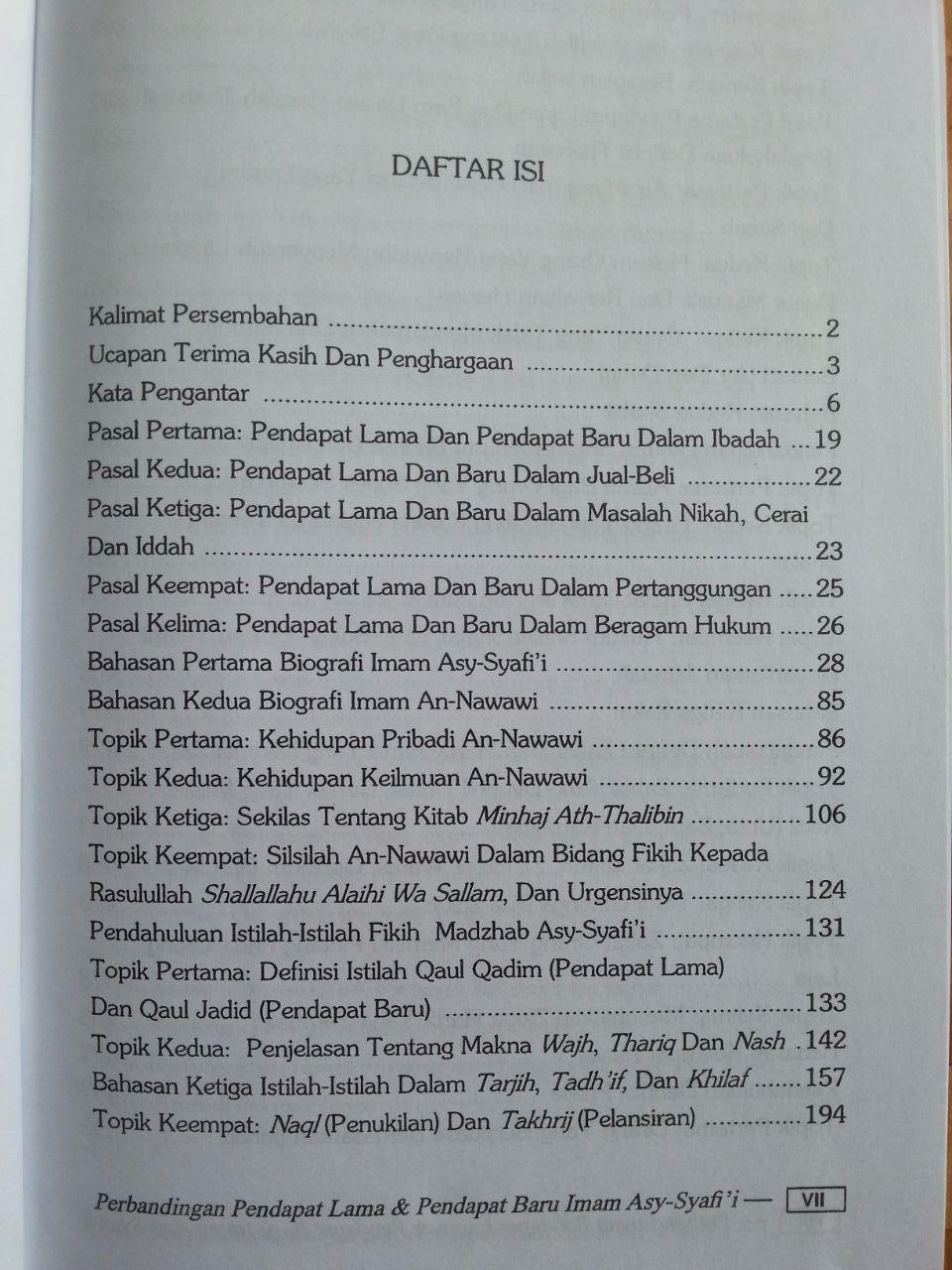 Buku Perbandingan Pendapat Lama Dan Pendapat Baru Imam Asy-Syafi'i isi 3