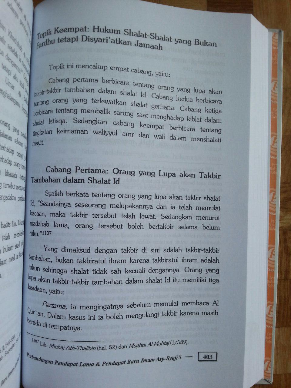 Buku Perbandingan Pendapat Lama Dan Pendapat Baru Imam Asy-Syafi'i isi 4