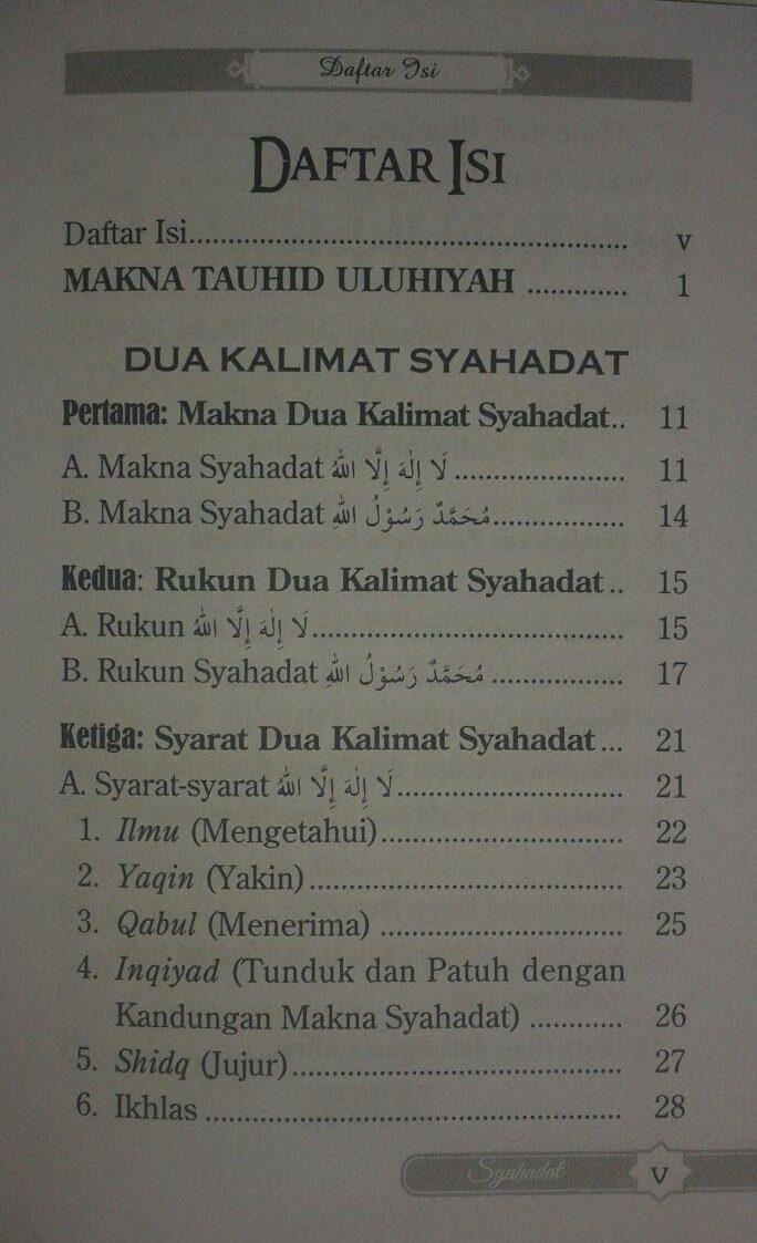 Buku Saku Penjelasan Mendasar Dua Kalimat Syahadat isi 2