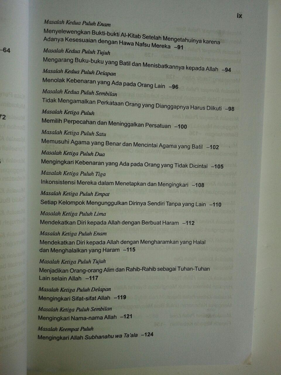 Buku Syarah Problematika Jahiliyah isi