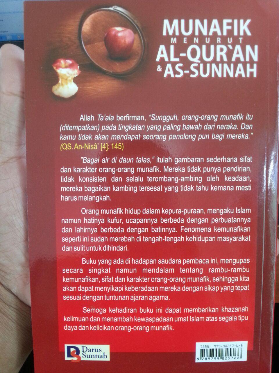 Buku Munafik Menurut Al-Quran dan As-Sunnah cover 2
