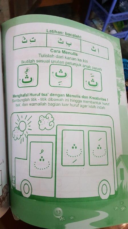 Buku Cara Cepat Menghafal Dan Menulis Huruf Hijaiyyah isi 3