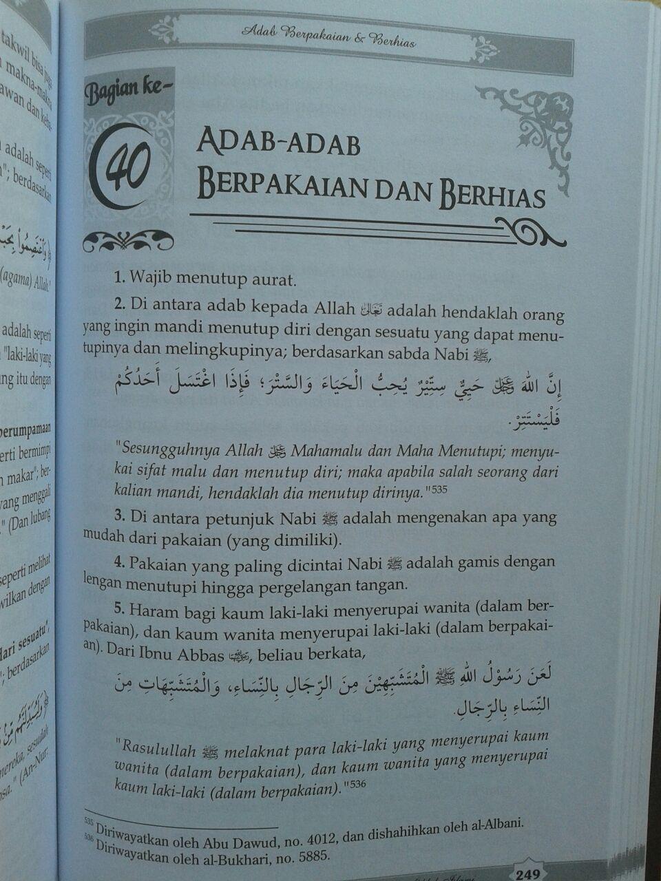 Buku Panduan Lengkap Praktis Adab dan Akhlak Islami isi 6