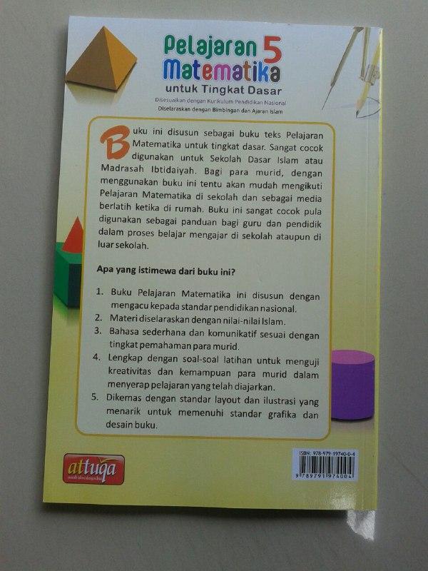 Buku Kurikulum Pelajaran Matematika Untuk Tingkat Dasar Kelas 1-6 cover 2