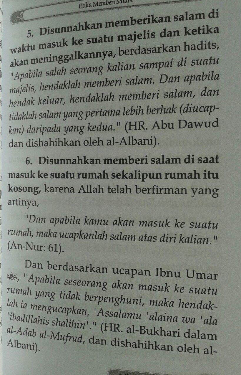 Buku Saku Etika Seorang Muslim isi 2