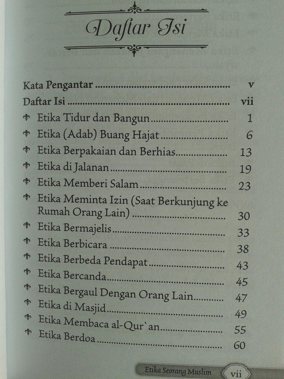 Buku Saku Etika Seorang Muslim isi