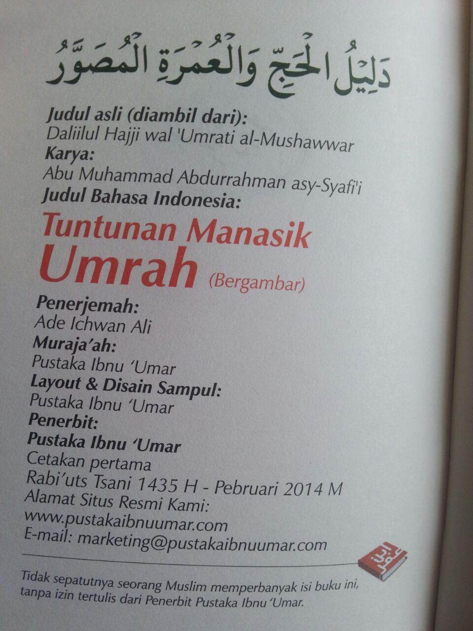 Buku Saku Tuntunan Manasik Umrah isi 2