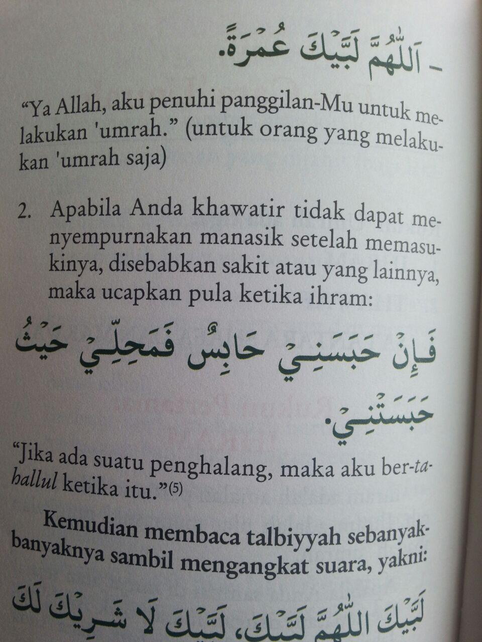 Buku Saku Tuntunan Manasik Umrah isi 3