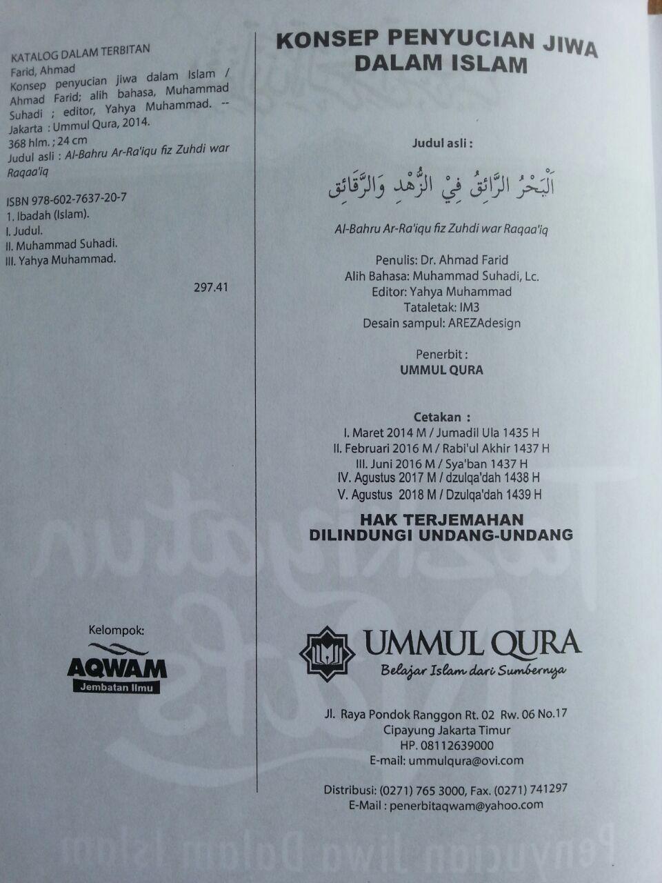 Buku Tazkiyatun Nafs Penyucian Diri Dalam Islam isi