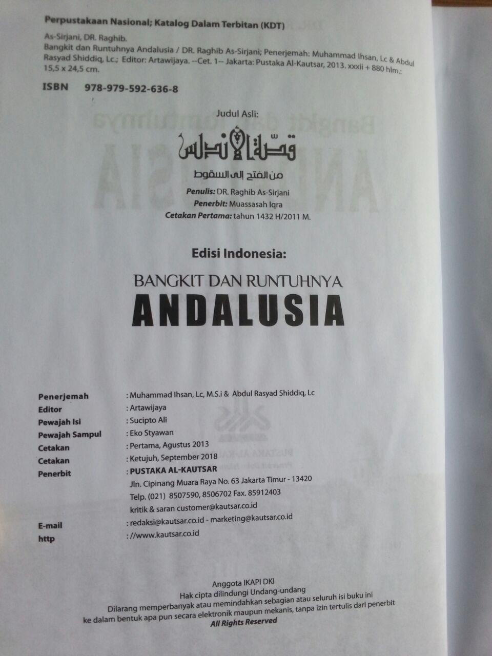 Buku Bangkit Dan Runtuhnya Andalusia isi 3