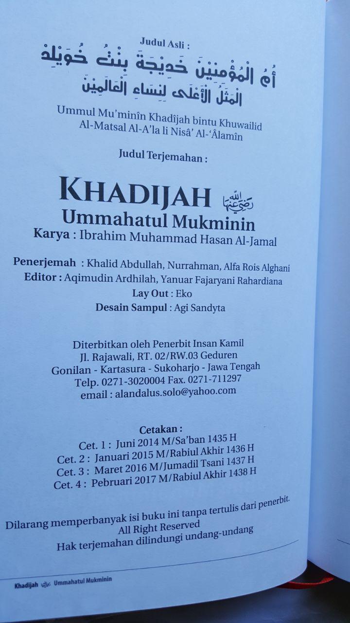 Buku Khadijah Teladan Agung Wanita Mukminah isi 3
