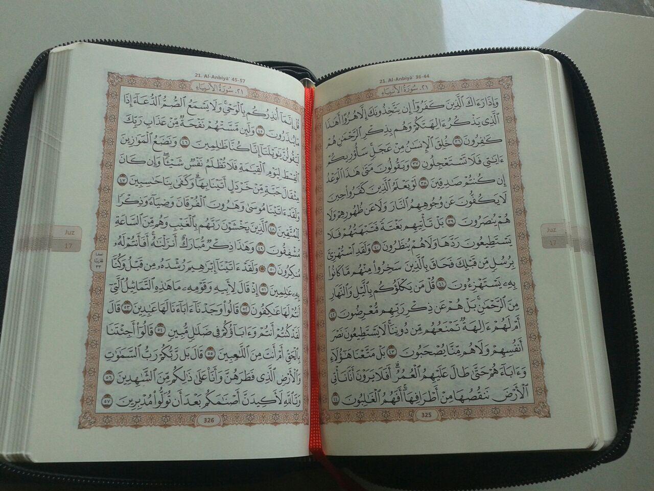 Al-Qur'an Mushaf Al-Madinah Resleting Ukuran A6 isi 2