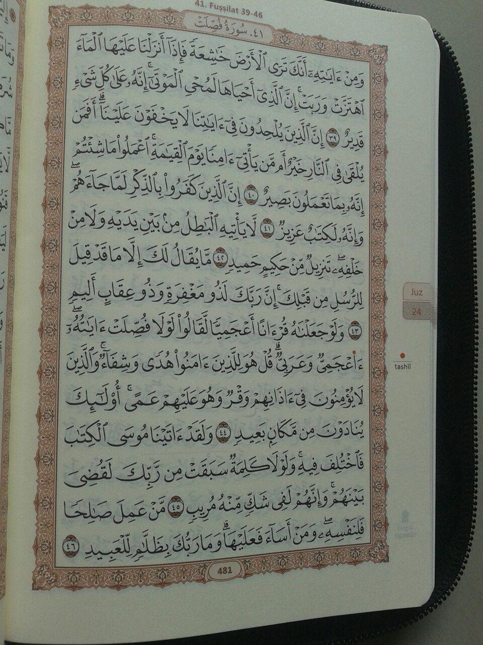 Al-Qur'an Mushaf Al-Madinah Resleting Ukuran A6 isi