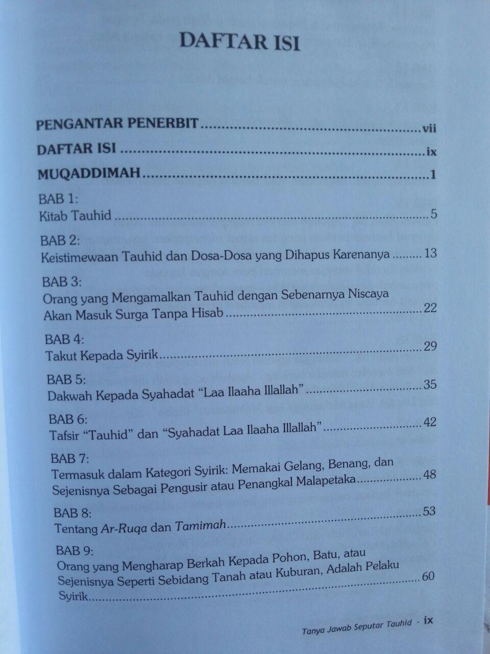 Buku Tanya Jawab Seputar Tauhid isi 2
