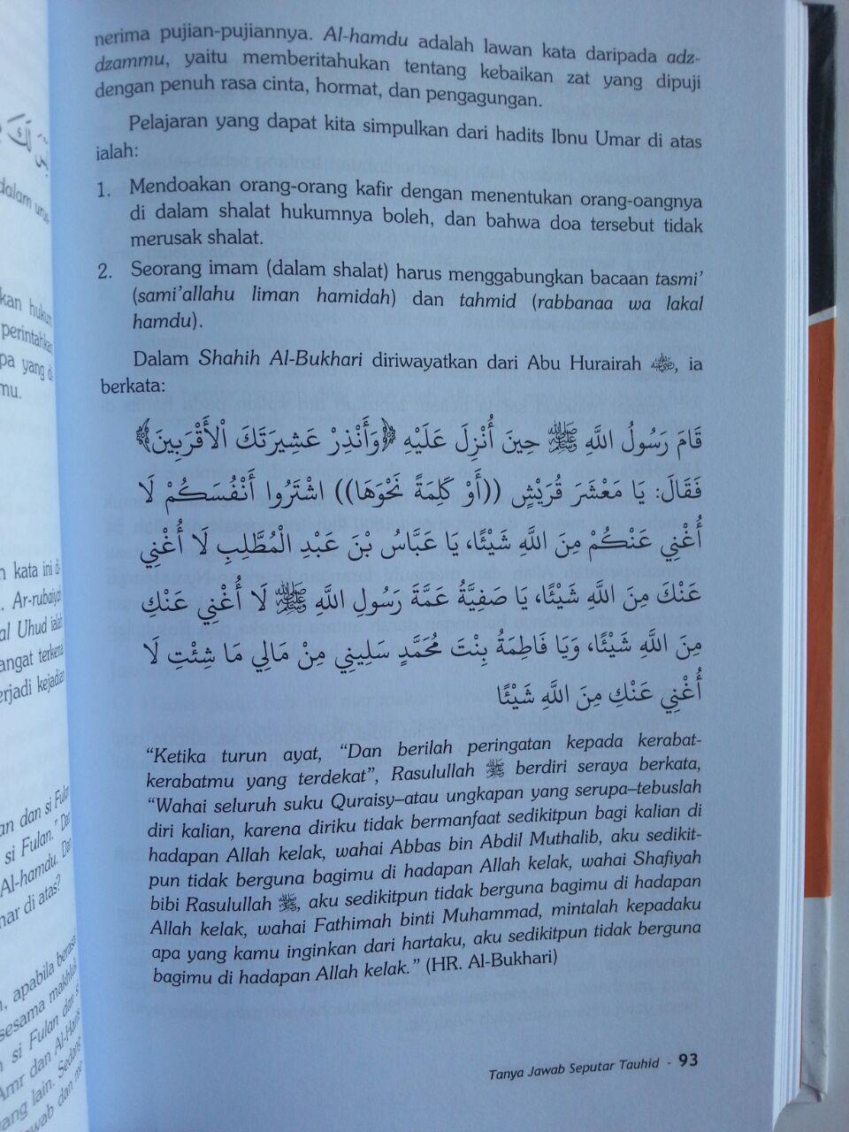 Buku Tanya Jawab Seputar Tauhid isi 3