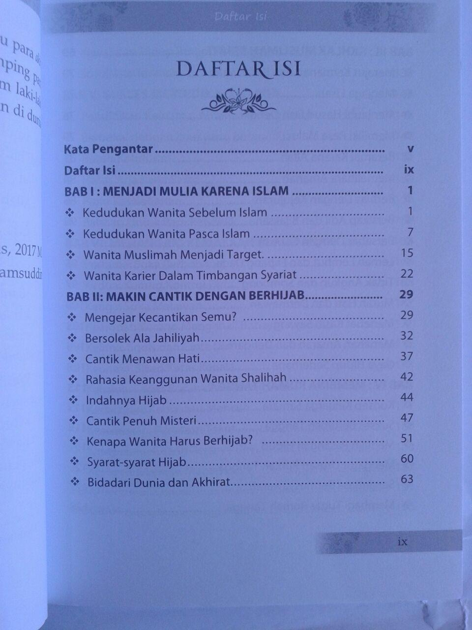 Buku Menjadi Bidadari Cantik Ala Islami Sosok Wanita Shalihah isi 2