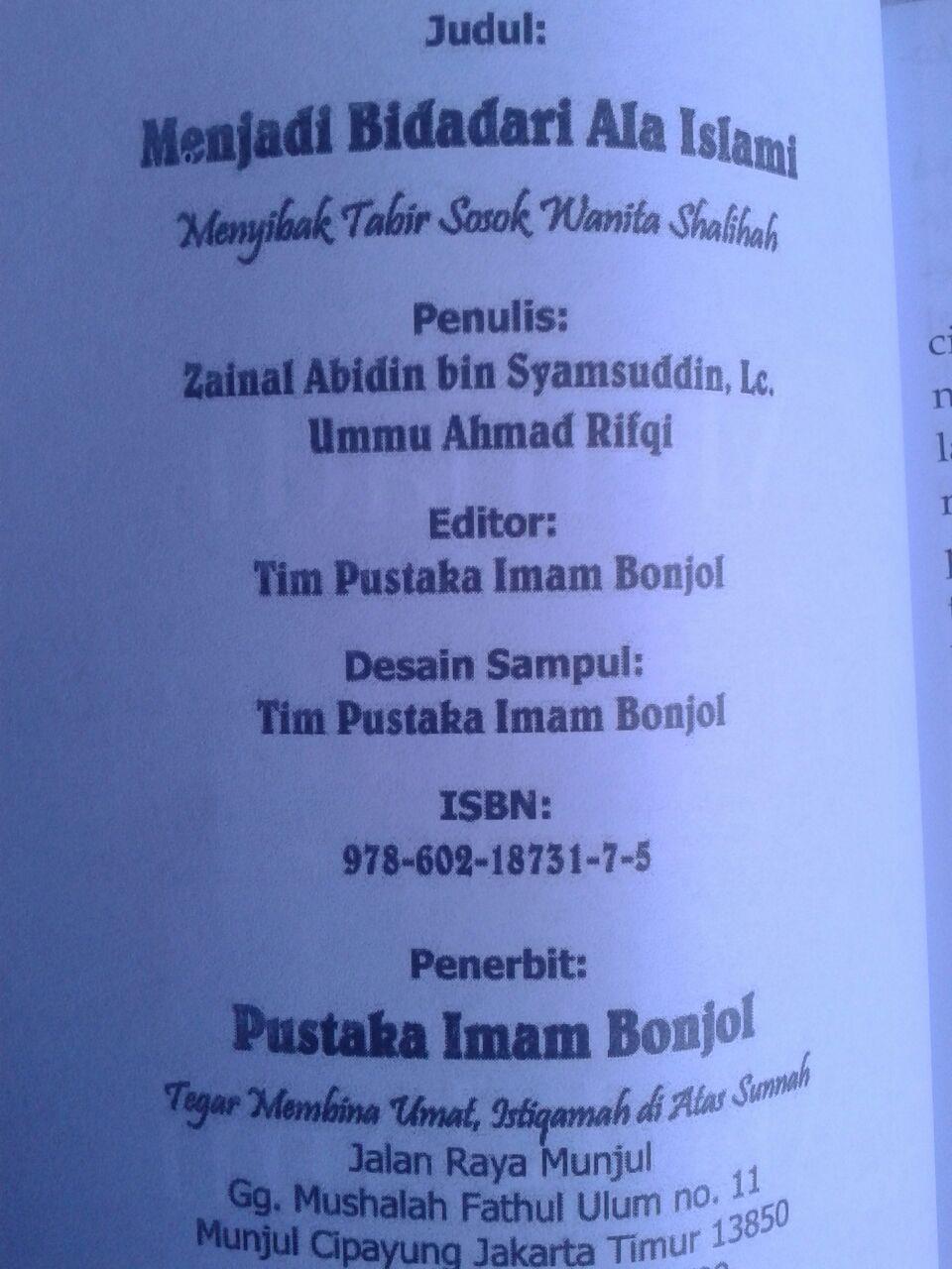 Buku Menjadi Bidadari Cantik Ala Islami Sosok Wanita Shalihah isi