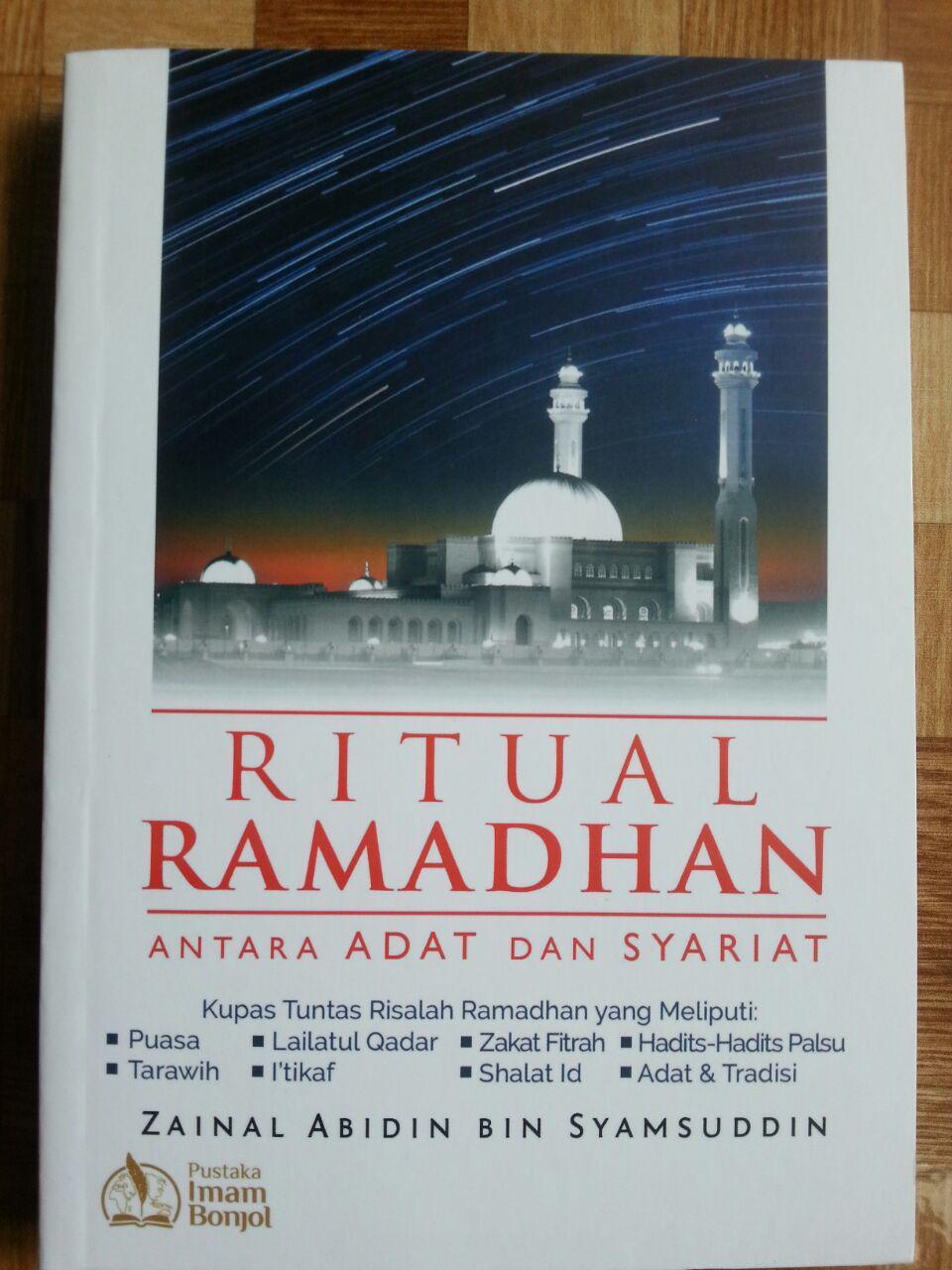 Buku Ritual Ramadhan Antara Adat Dan Syariat cover