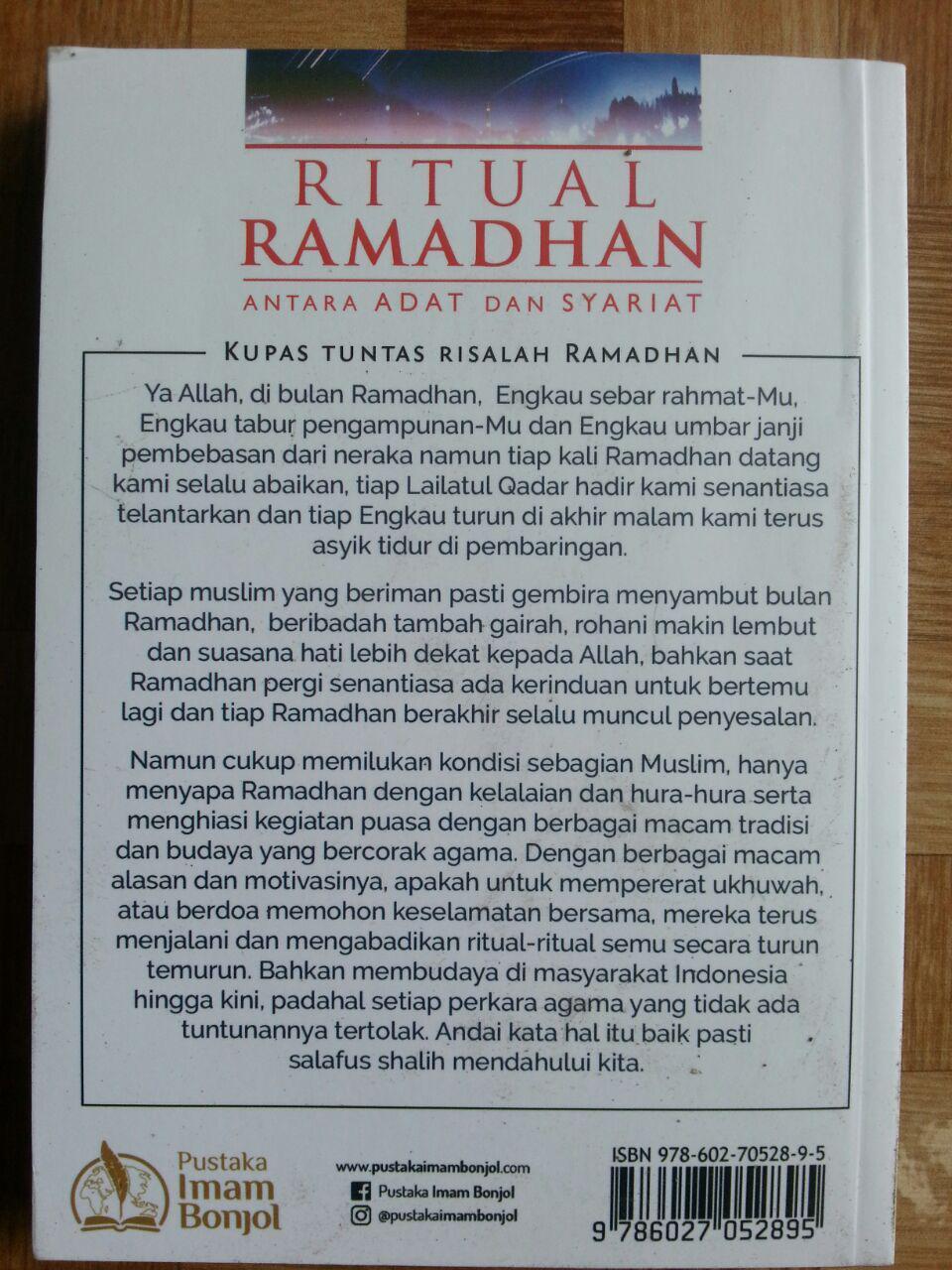 Buku Ritual Ramadhan Antara Adat Dan Syariat cover 2
