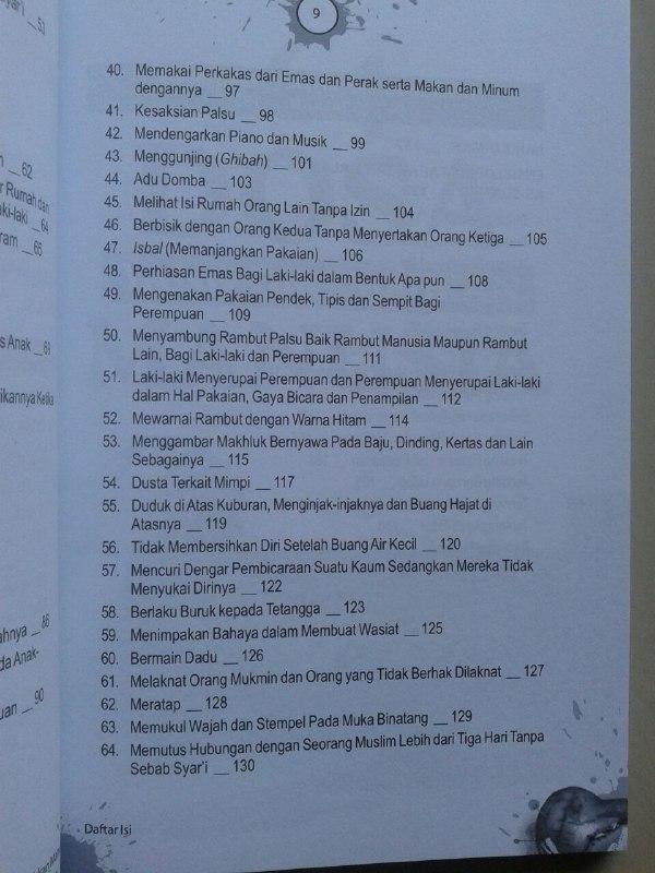Buku Dosa Dosa Yang Diremehkan Manusia Ensiklopedi 460 Dosa & Larangan isi 2