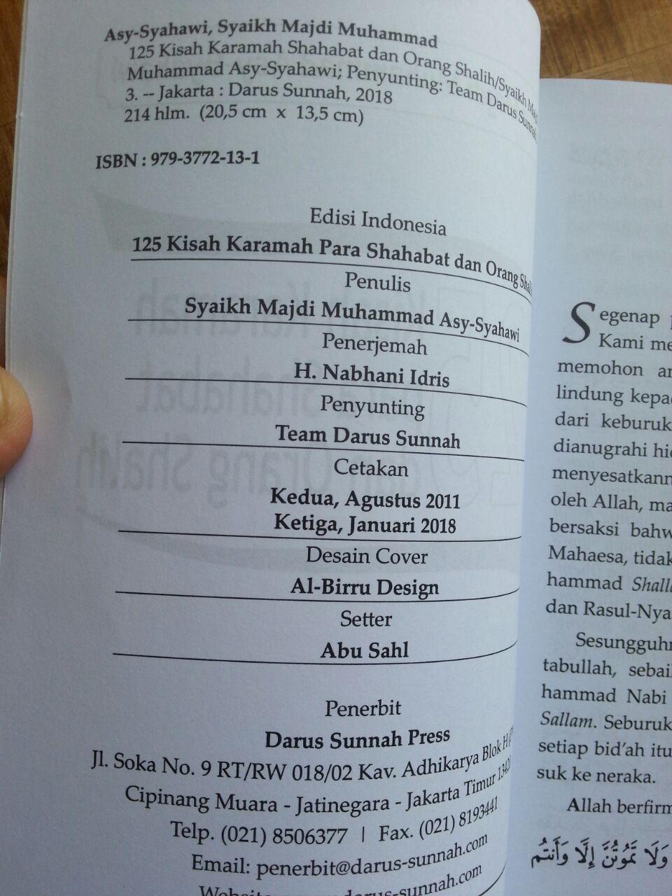 Buku 125 Kisah Karamah Para Shahabat Dan Orang Shalih isi 2